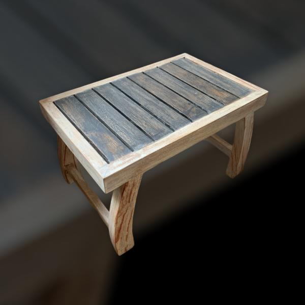 Teak Wood Foot stool (L)