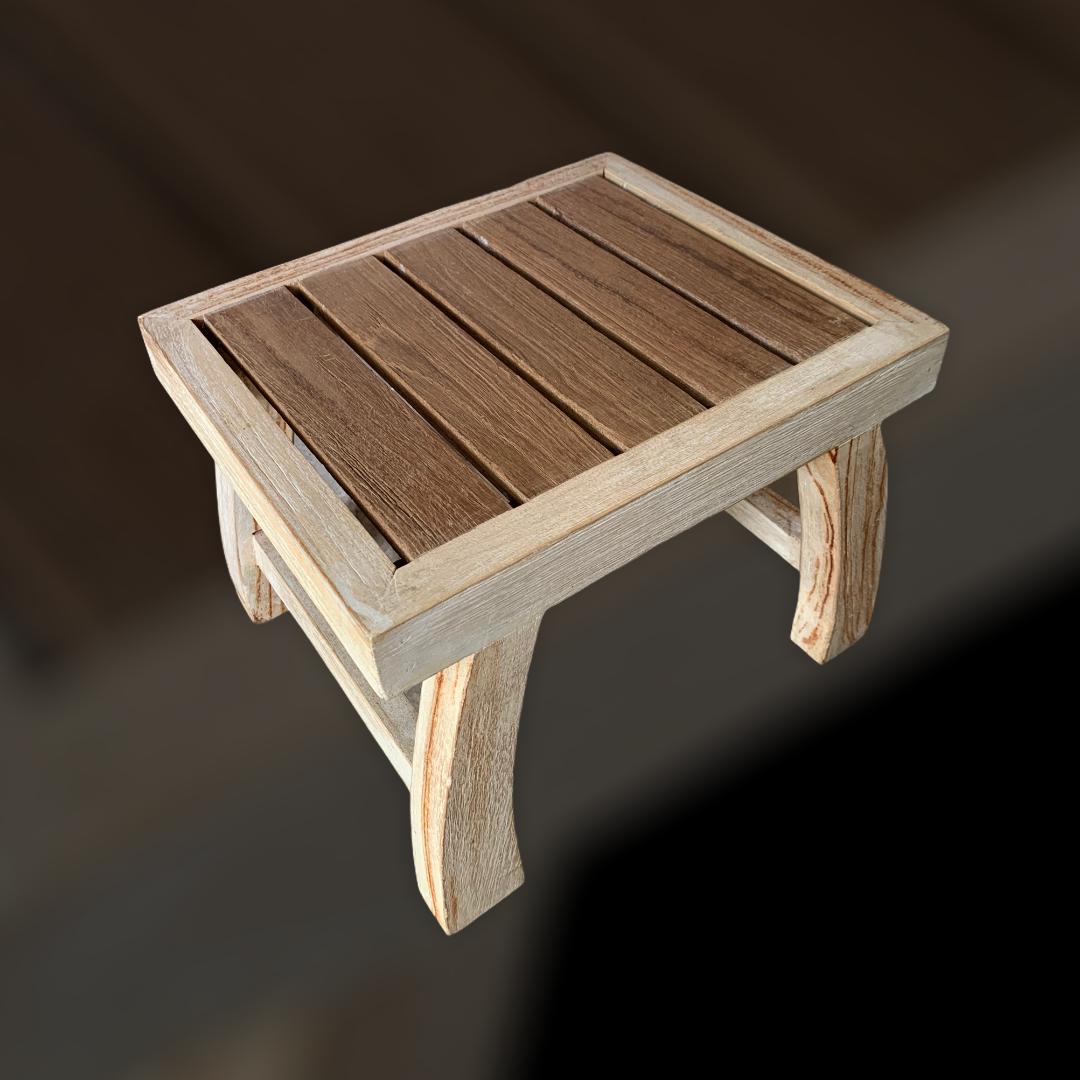 Teak Wood Foot stool (S)