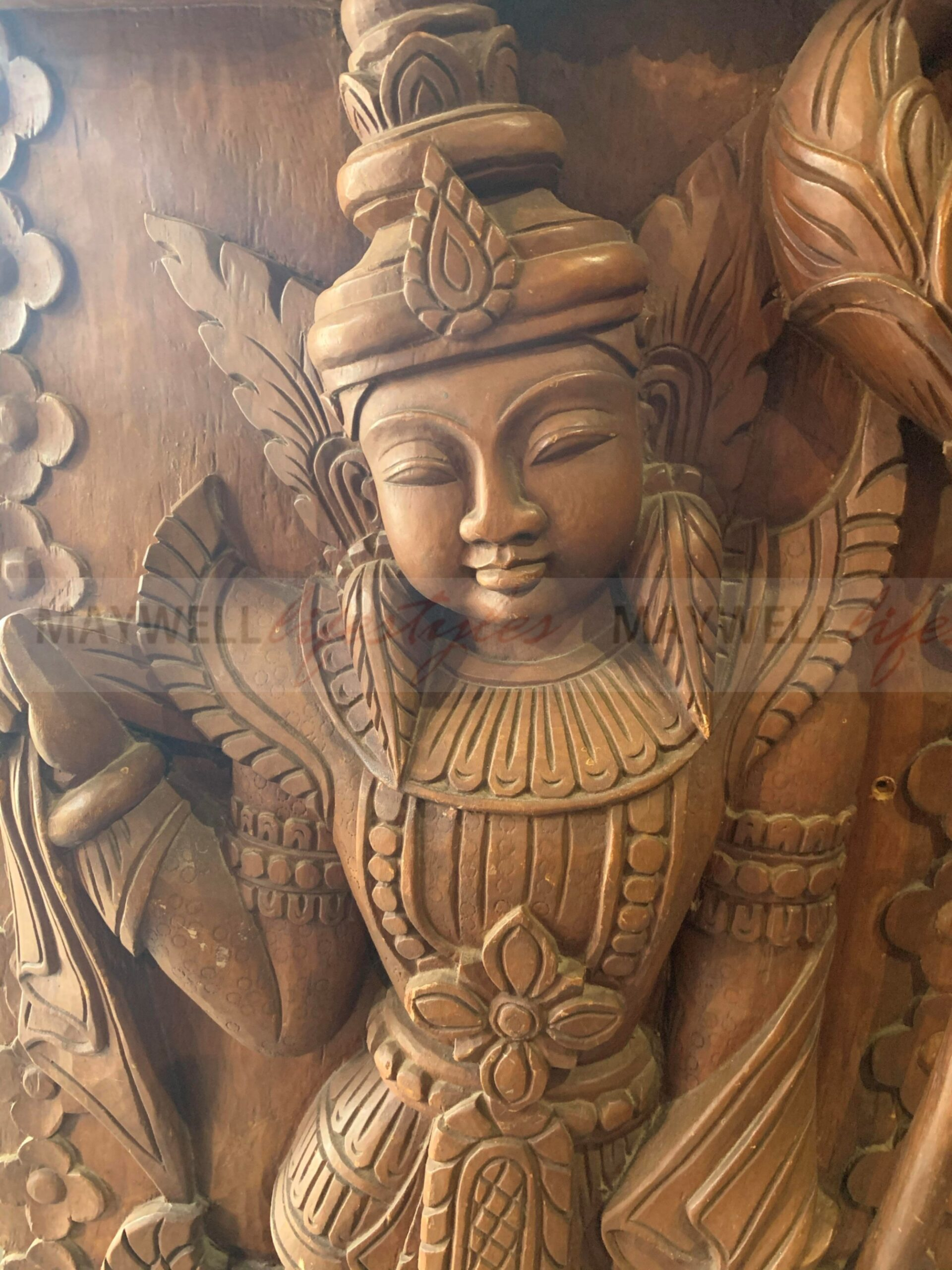 Carving Angel Door