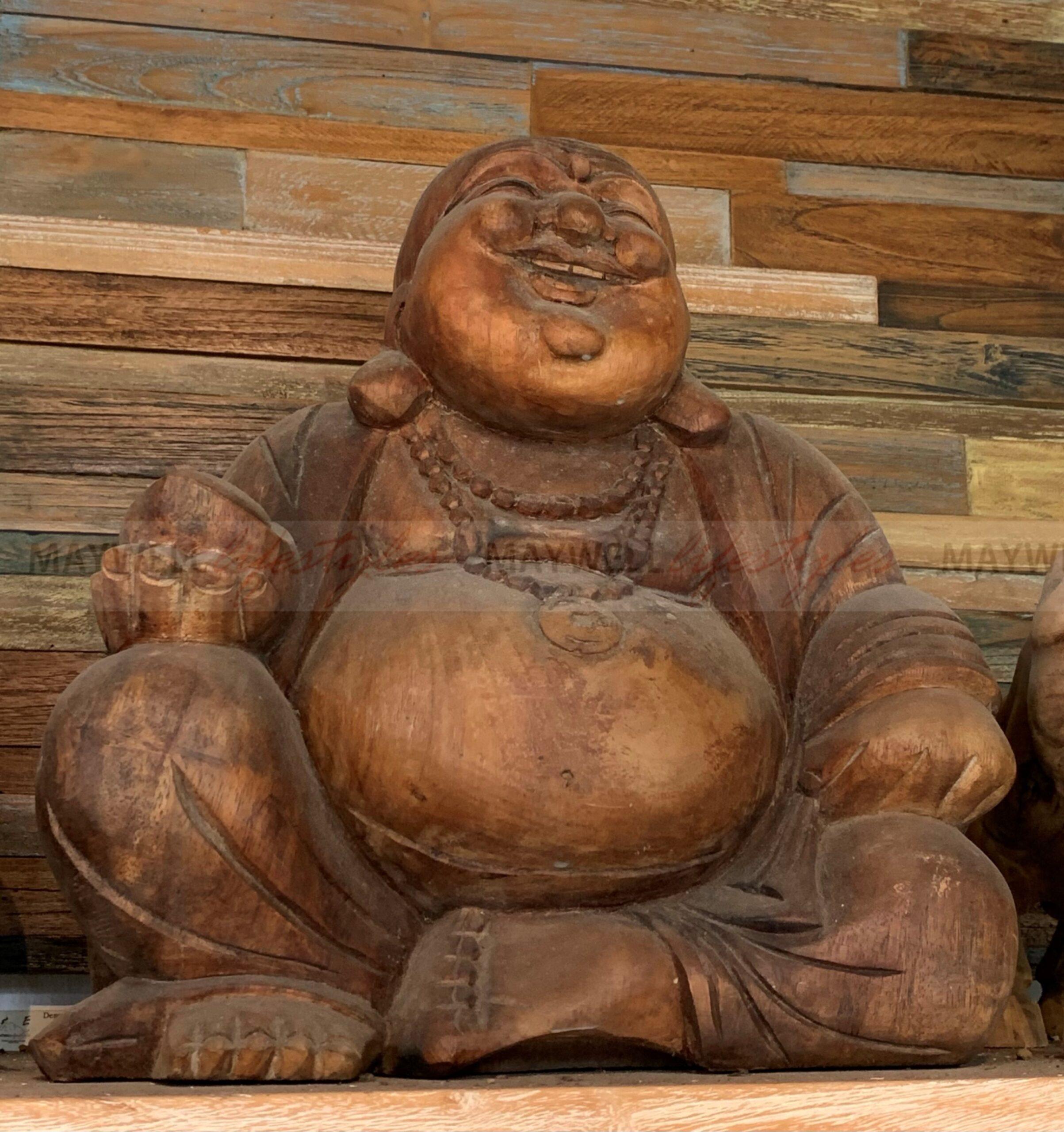 Burmese Laughing Buddha Sitting