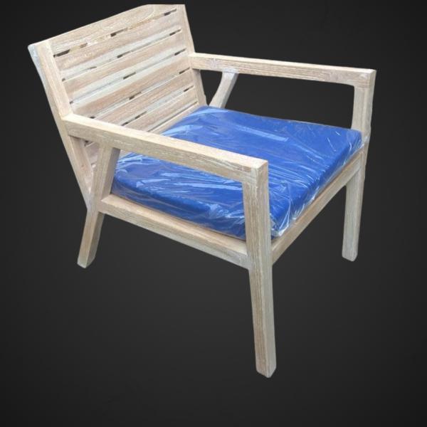 Teak wood zen armchair