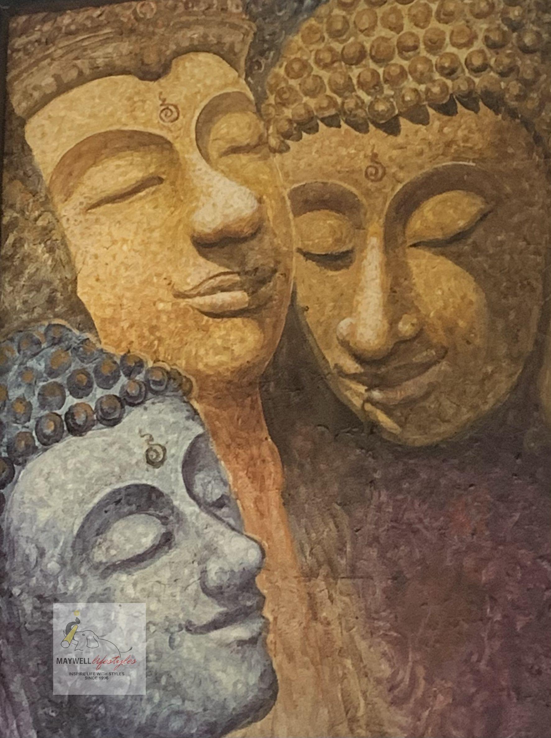 THREE BUDDHA HEAD