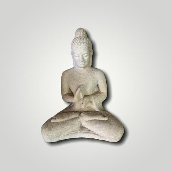 Stone Buddha white