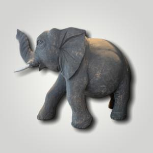 Carved elephant sculpture (L)